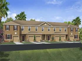 Casa Geminada 3 quartos com garagem fechado no Lake Bluff at Town Center - Davenport - $199,994
