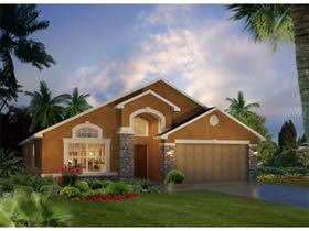 Casa nova de luxo com piscina em Providence Golf and Country Club - condominio fechado 15 minutos ate Disney $348,920